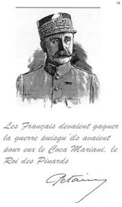 La déclaration du Maréchal Pétain en 1925, sur le vin Mariani.